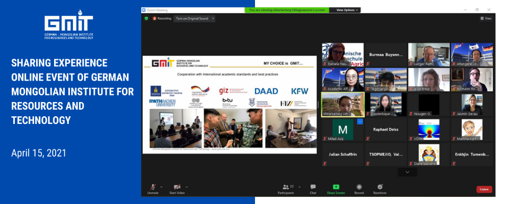 Professors and students of GMIT and THGA co-organized the Sharing Experience Online Event