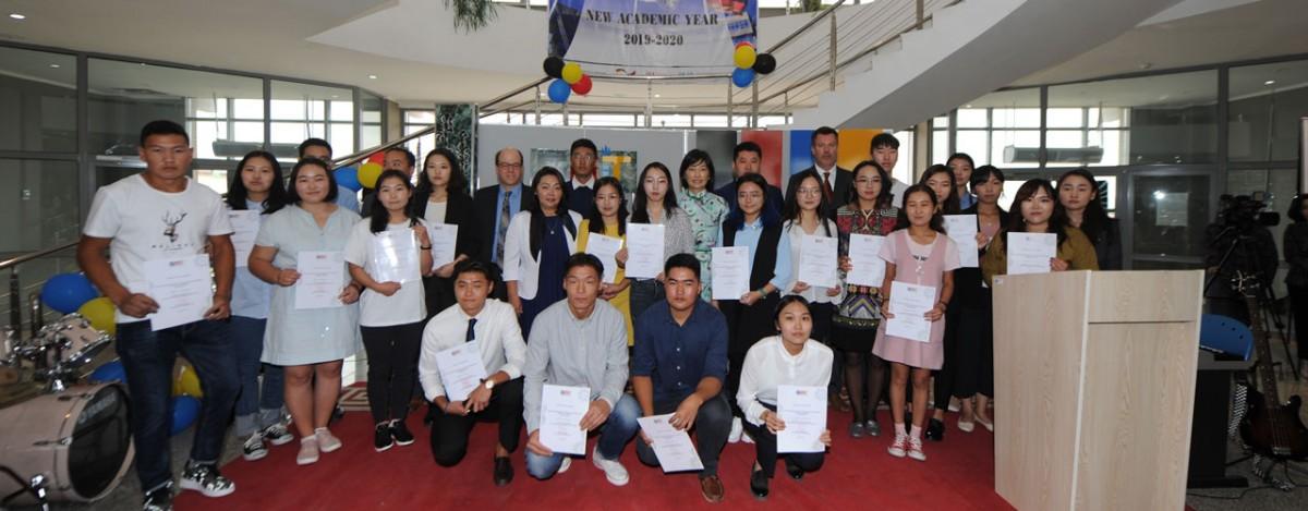 Монгол Улсын Засгийн газрын санхүүжилттэй МГТИС-ийн тэтгэлэг хүртсэн оюутнууд
